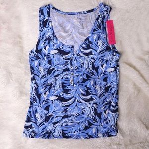 Lilly Pulitzer Merrill Tank Top You're the Zest XL